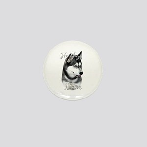 Husky Mom2 Mini Button