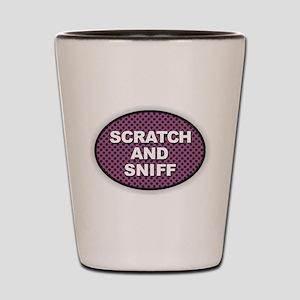Scratch Sniff Shot Glass