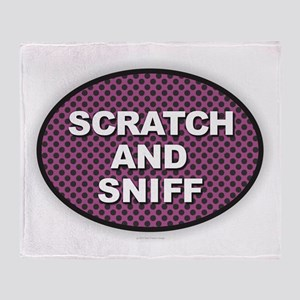 Scratch Sniff Throw Blanket