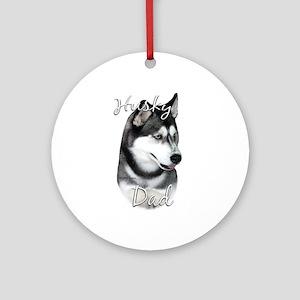 Husky Dad2 Ornament (Round)