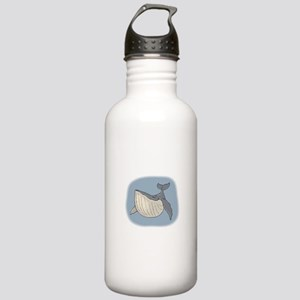 Whale Smiling in air Stainless Water Bottle 1.0L