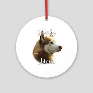 Husky Mom2 Ornament (Round)