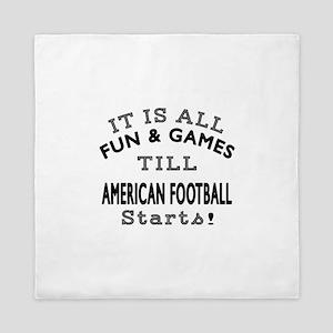 American Football Fun And Games Design Queen Duvet