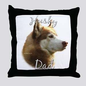 Husky Dad2 Throw Pillow