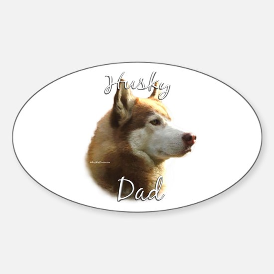 Husky Dad2 Oval Decal