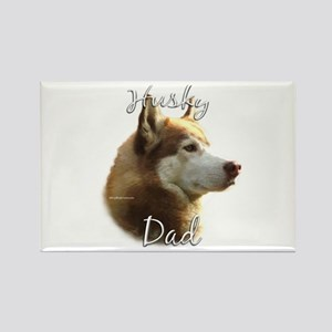 Husky Dad2 Rectangle Magnet