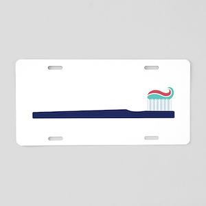 Toothbrush Aluminum License Plate