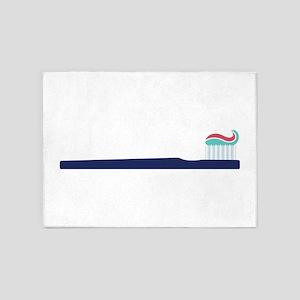 Toothbrush 5'x7'Area Rug