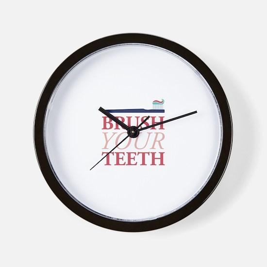 Brush Your Teeth Wall Clock