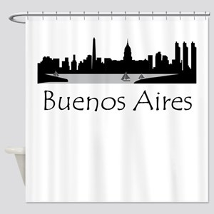 Buenos Aires Argentina Cityscape Shower Curtain