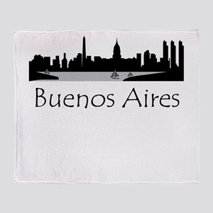 Buenos Aires Argentina Cityscape Throw Blanket