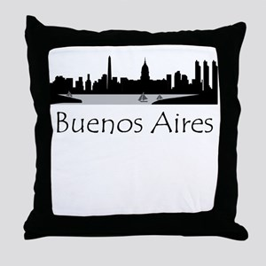 Buenos Aires Argentina Cityscape Throw Pillow