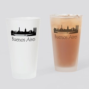 Buenos Aires Argentina Cityscape Drinking Glass