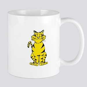 Tiger sitting on front and back iegs Mugs