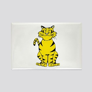 Tiger sitting on front and back iegs Magnets