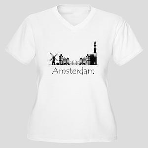 Amsterdam Netherlands Cityscape Plus Size T-Shirt