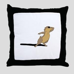 Groundhog sad Throw Pillow