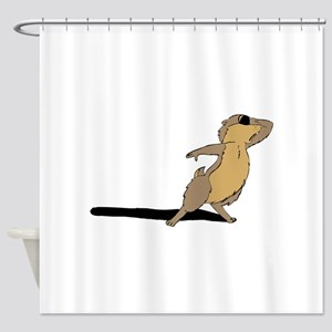 Groundhog sad Shower Curtain