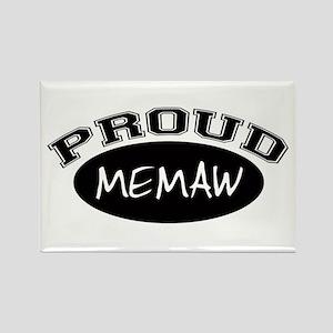 Proud Memaw (black) Rectangle Magnet