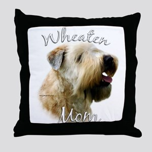 Wheaten Mom2 Throw Pillow