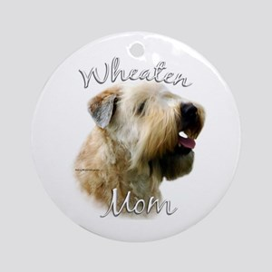 Wheaten Mom2 Ornament (Round)