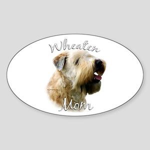Wheaten Mom2 Oval Sticker