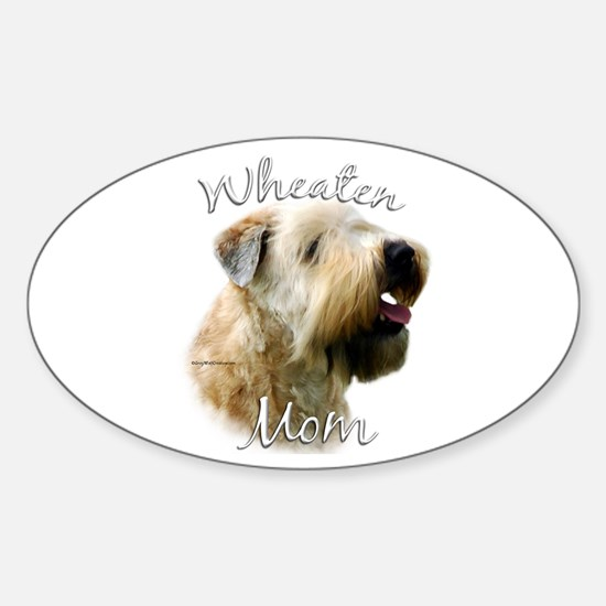 Wheaten Mom2 Oval Decal