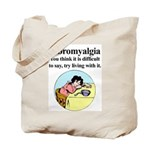 Fibromyalgia Tired Woman Tote Bag