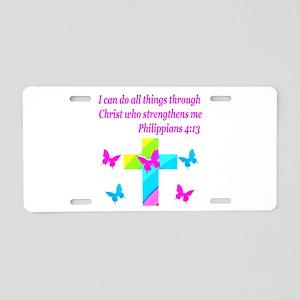 PHILIPPIANS 4:13 Aluminum License Plate