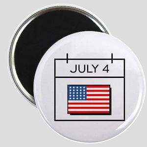 July 4 Calendar Magnets
