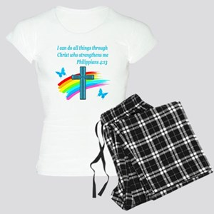 PHILIPPIANS 4:13 Women's Light Pajamas