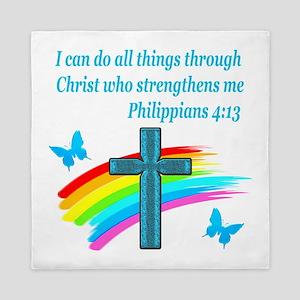 PHILIPPIANS 4:13 Queen Duvet