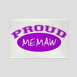 Proud Memaw (purple) Rectangle Magnet