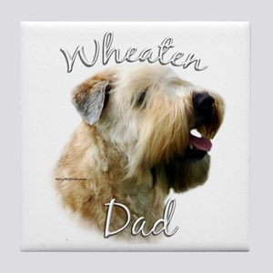 Wheaten Dad2 Tile Coaster