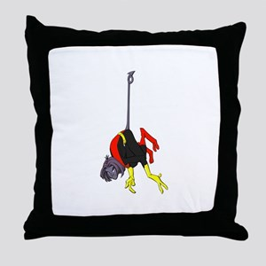 X Men hanging with rope Throw Pillow