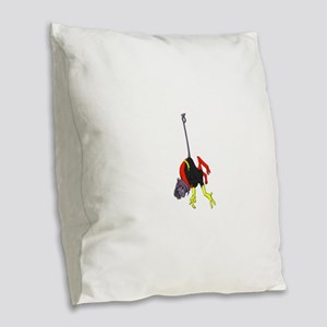 X Men hanging with rope Burlap Throw Pillow