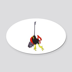 X Men hanging with rope Oval Car Magnet