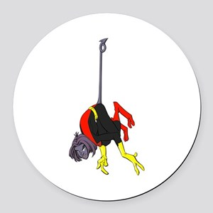 X Men hanging with rope Round Car Magnet