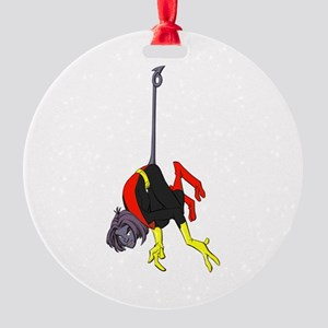 X Men hanging with rope Round Ornament
