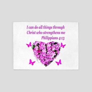 PHILIPPIANS 4:13 5'x7'Area Rug