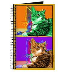 Tabby Cat Art Journal
