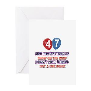 47th Birthday Designs Greeting Cards