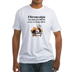 Fibromyalgia Tired Man Fitted T-Shirt