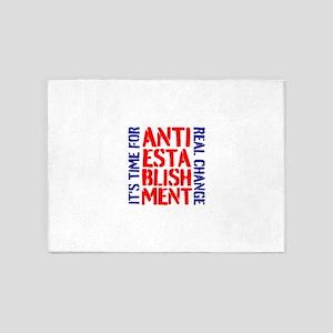 Anti-Establishment 5'x7'Area Rug