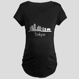 Tokyo Japan Cityscape Maternity T-Shirt