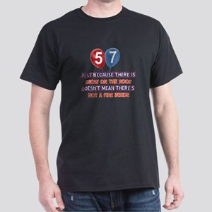 57 year old designs Dark T-Shirt
