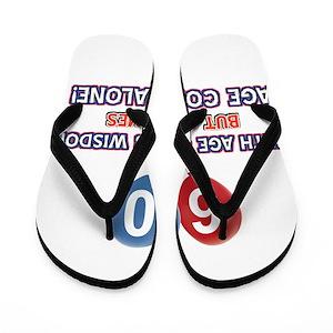 54766c8d030c 60th Birthday Flip Flops - CafePress