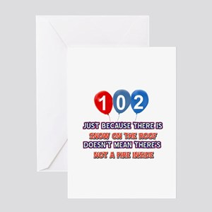 102 year old designs Greeting Card