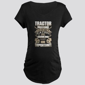 Tractor Pulling Maternity T-Shirt