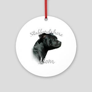 Staffy Mom2 Ornament (Round)